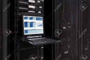 30533486-Financial-revenue-Information-show-on-the-server-computer-KVM--Stock-Photo